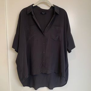 Madewell charcoal silk top size M